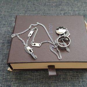 Louis Vuitton Jewelry - Louis Vuitton Monogram Charms Necklace Silver